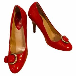 Linea Paolo Candy Apple Patent Leather Shoes